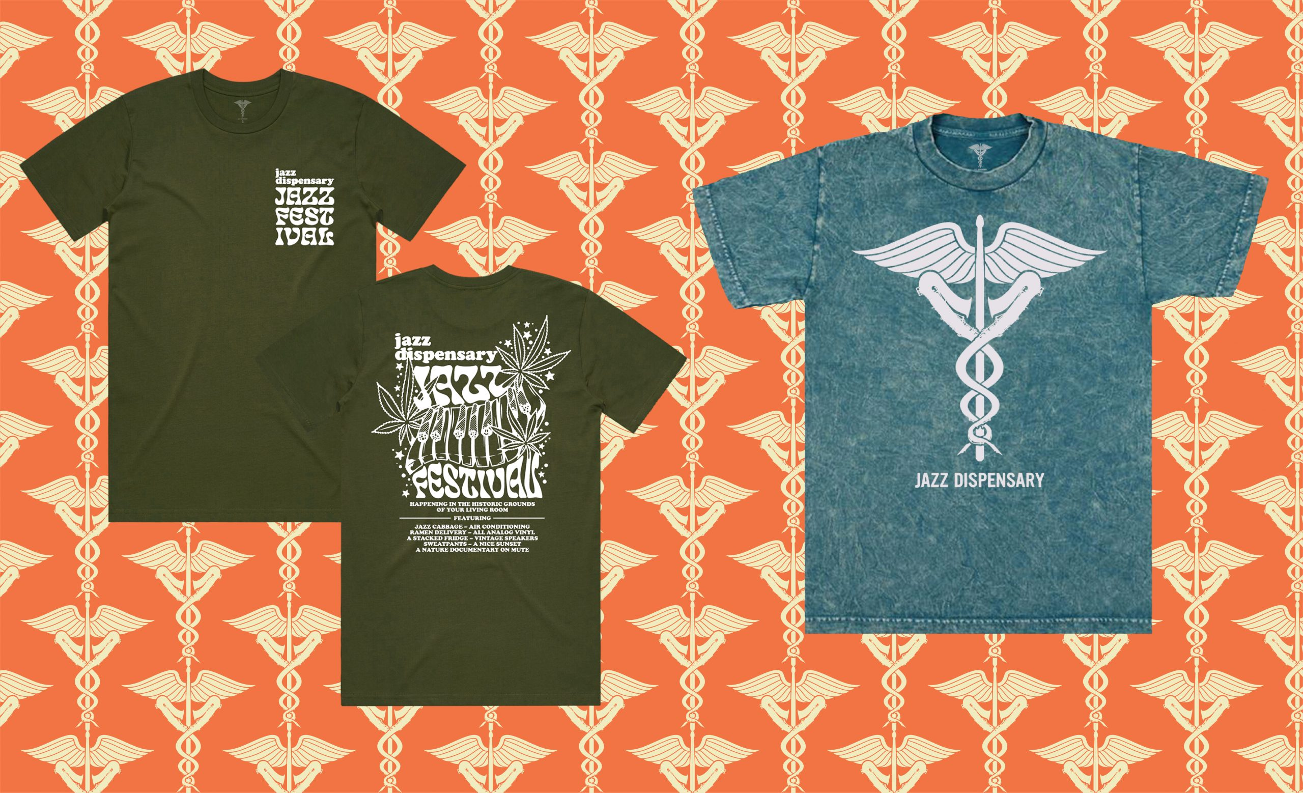 """Featured image for """"BRAND NEW JAZZ DISPENSARY T-SHIRTS AVAILABLE TO ORDER"""""""